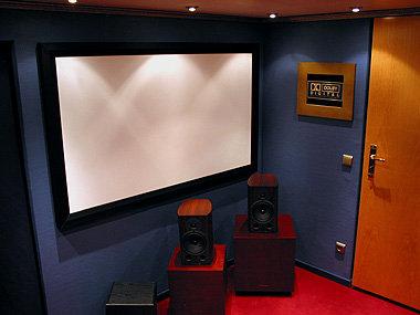 Rahmenleinwand 400cm x 171cm 21:9 Cinemascope Format