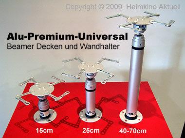 Deckenhalter Beamer ALU-Premium-Universal-Vario 35cm - 50cm Länge