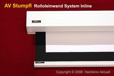 av stumpfl leinwand mit selbstrollmechanismus 200x113 cm. Black Bedroom Furniture Sets. Home Design Ideas