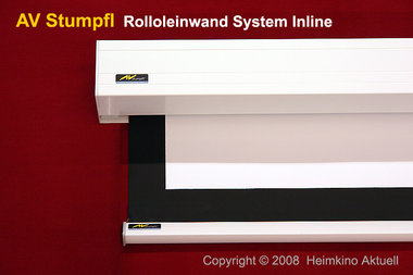 AV Stumpfl Leinwand mit Selbstrollmechanismus 220cm x 94cm Format 21:9