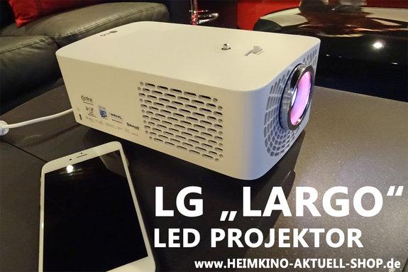 LG Largo LED Projektor mit Farbfilter