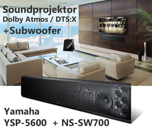 yamaha ysp 5600 im set mit subwoofer ns sw700 heimkino. Black Bedroom Furniture Sets. Home Design Ideas