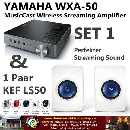 Yamaha MusicCast WXA-50 KEF LS50 Stereoset