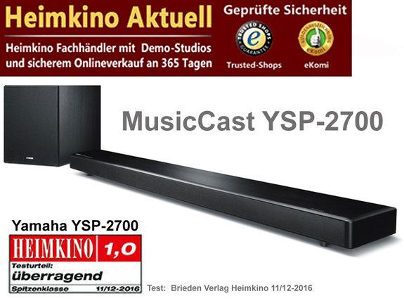 Yamaha MusicCast YSP-2700 schwarz