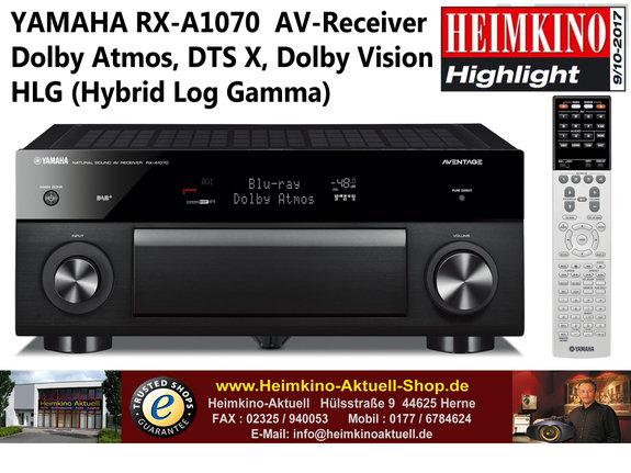 Yamaha RX-A1070 AV-Receiver schwarz