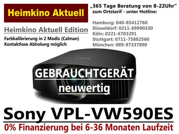 SONY VPL-VW590ES schwarz (Gebrauchtgerät Inzahlungnahme)
