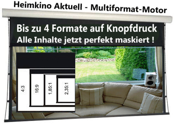 203cm 4 Format Multiformatleinwand Home Vision BE/BL 1,0Gain