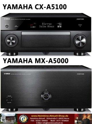 Yamaha CX-A5100 + Yamaha MX-A5000 Endverstärker schwarz (Aussteller-neu)