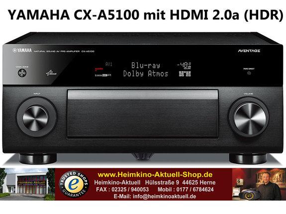 Yamaha CX-A5100 schwarz 11.2-Kanal AV-Vorverstärker mit HDMI 2.0a HDR und HDCP2.2