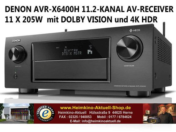 Denon AVR-X6400H schwarz 11.2 AV-RECEIVER mit HEOS Technologie