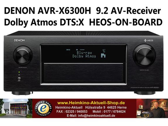 Denon AVR-X6300H 4K Ultra-HD Netzwerk-AV-Receiver mit HEOS Netzwerk-Technologie