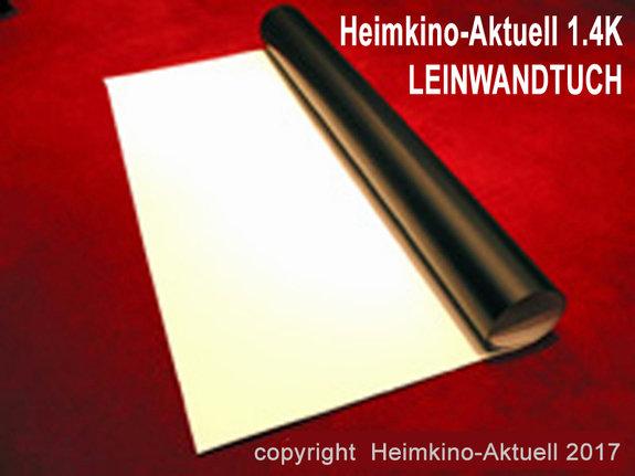 Heimkino-Aktuell 1.4K Leinwandtuch - Auswahl-Größe (+ Aufpreis):ca.470cm x 210cm