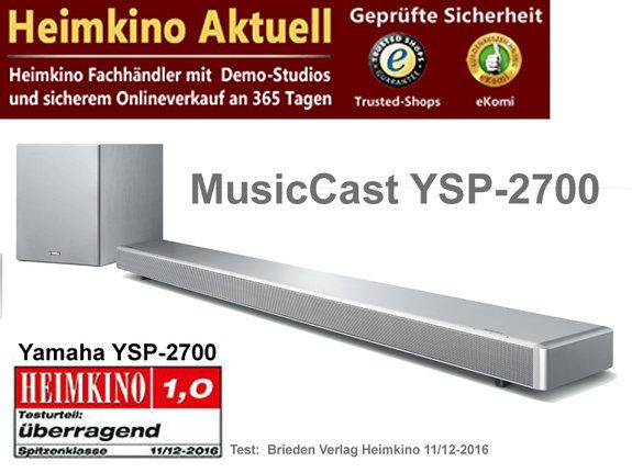 Yamaha MusicCast YSP-2700 silber
