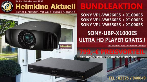 SONY VPL-VW260 ES Heimkino-Aktuell-Edition + GRATIS SONY-UBP-X1000ES