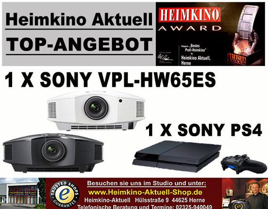 Sony VPL-HW-65 Heimkino-Aktuell-Edition schwarz mit Sony PS4