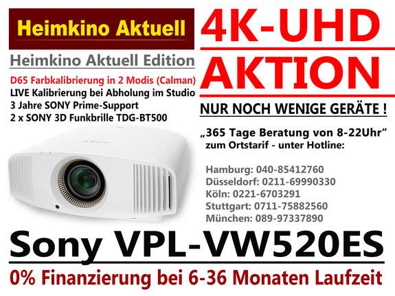 SONY VPL-VW520 ES weiss in der Heimkino-Aktuell-Edition