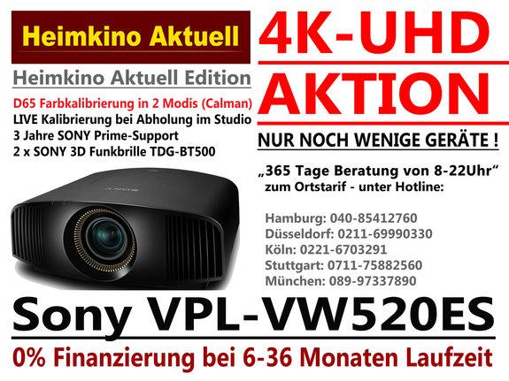 SONY VPL-VW520 ES schwarz in der Heimkino-Aktuell-Edition