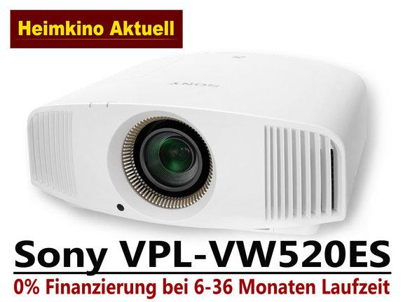 SONY VPL-VW520 ES weiss (Rückläufer mit nur 55 Betriebsstunden)