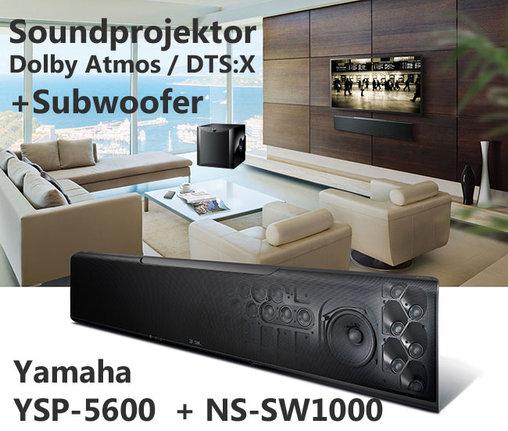 yamaha ysp 5600 im set mit subwoofer ns sw1000. Black Bedroom Furniture Sets. Home Design Ideas