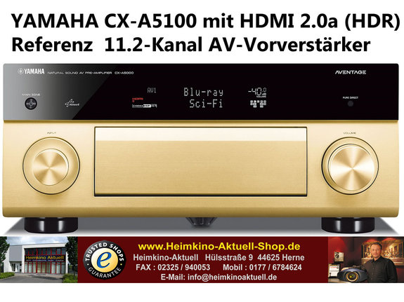 Yamaha CX-A5100 gold 11.2-Kanal AV-Vorverstärker mit HDMI 2.0a HDR und HDCP2.2