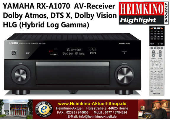 Yamaha RX-A1070 AV-Receiver schwarz (Gebrauchtgerät)