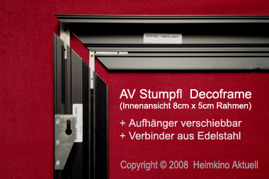 rahmenleinwand 160cm x 90cm 16 9 format heimkino aktuell. Black Bedroom Furniture Sets. Home Design Ideas